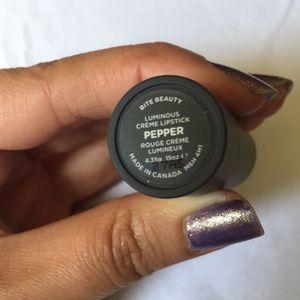"bite beauty Makeup - 💄 BITE beauty ""Pepper"" creme lipstick! 💄"